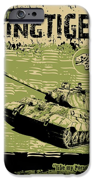 Recently Sold -  - The Tiger iPhone Cases - King Tiger Porsche iPhone Case by Philip Arena