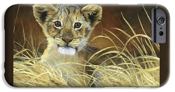 Lion iPhone Cases - King To Be iPhone Case by Lucie Bilodeau
