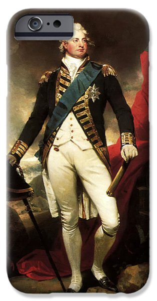 Concept Paintings iPhone Cases - King William IV of England iPhone Case by Martin Shee