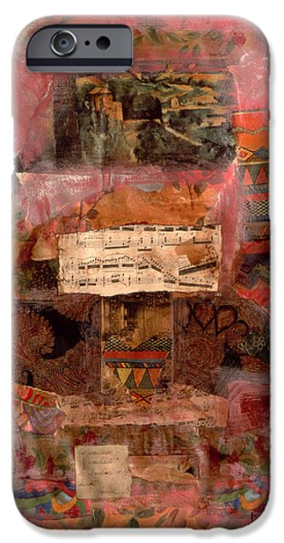 Sheets iPhone Cases - Kingdom, 1998 Mixed Media iPhone Case by Nissan Engel