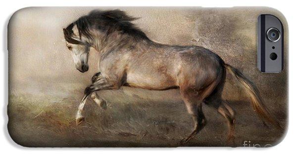 Horses Digital Art iPhone Cases - Kingdom of Heaven iPhone Case by Dorota Kudyba