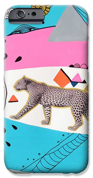 Geometric Animal iPhone Cases - Kingdom Prowl iPhone Case by Susan Claire
