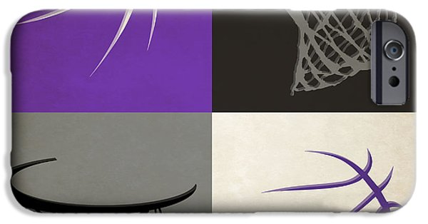 Dunk iPhone Cases - Kings Ball And Hoop iPhone Case by Joe Hamilton