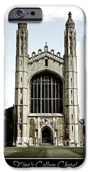 King's College Chapel - Poster iPhone Case by Stephen Stookey