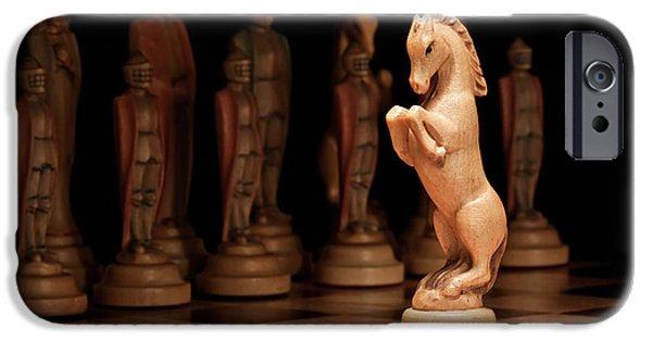 Chess Queen iPhone Cases - Kings Court II iPhone Case by Tom Mc Nemar