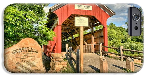 Covered Bridge iPhone Cases - Kings Covered Bridge iPhone Case by Adam Jewell
