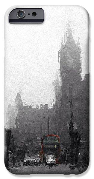 City Scape Digital Art iPhone Cases - Kings Cross St Pancras iPhone Case by Stefan Kuhn