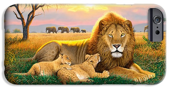 Young iPhone Cases - Kings Of The Serengeti iPhone Case by Chris Heitt