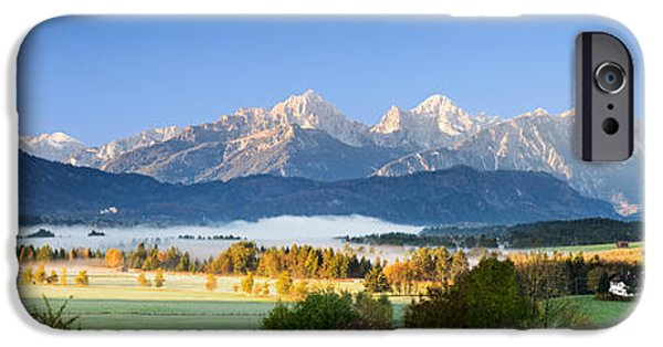 Mountain iPhone Cases - Kings Region And Allgau Alps, Bavaria iPhone Case by Panoramic Images