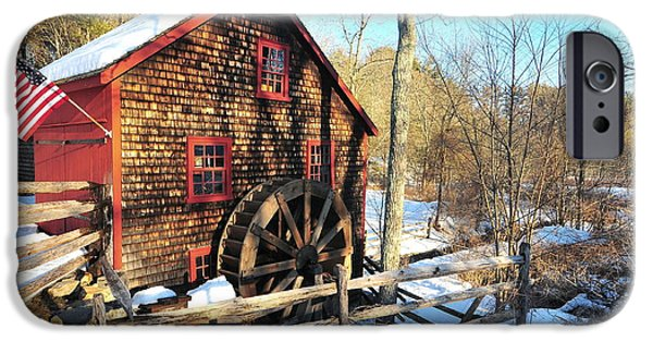 Central Massachusetts iPhone Cases - Kingsbury Grist Mill iPhone Case by Catherine Reusch  Daley