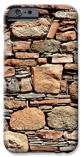 Walls iPhone Cases - Kinishba Masonry iPhone Case by Joe Kozlowski
