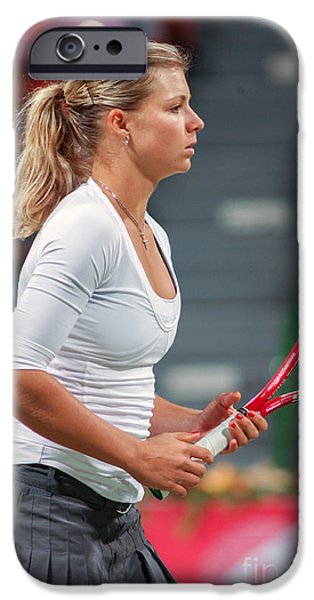 Maria Kirilenko iPhone Cases - Kirilenko in Doha iPhone Case by Paul Cowan
