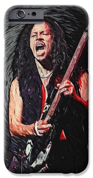 Dave Digital Art iPhone Cases - Kirk Hammett iPhone Case by Taylan Soyturk