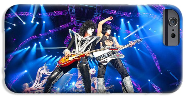 Glam Rock iPhone Cases - KISS - 40th Anniversary Tour Live - Stanley and Thayer iPhone Case by Epic Rights