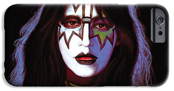 Original Photographs iPhone Cases - KISS - Ace Frehley iPhone Case by Epic Rights
