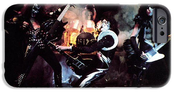 Original Photographs iPhone Cases - KISS - Alive! iPhone Case by Epic Rights