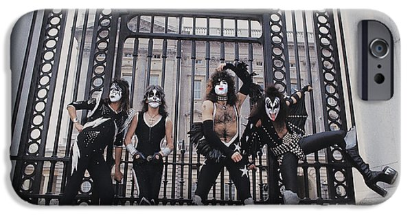 Glam Rock iPhone Cases - KISS - Buckingham Palace iPhone Case by Epic Rights