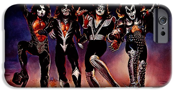 Kisses iPhone Cases - KISS - Destroyer iPhone Case by Epic Rights