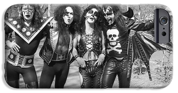 Glam Rock iPhone Cases - KISS - Group Early Years iPhone Case by Epic Rights