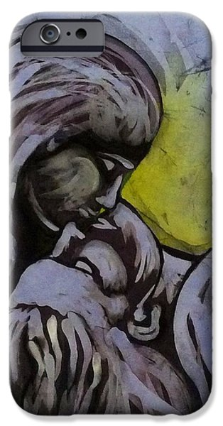 Couple Tapestries - Textiles iPhone Cases - Kiss Him iPhone Case by Kay Shaffer