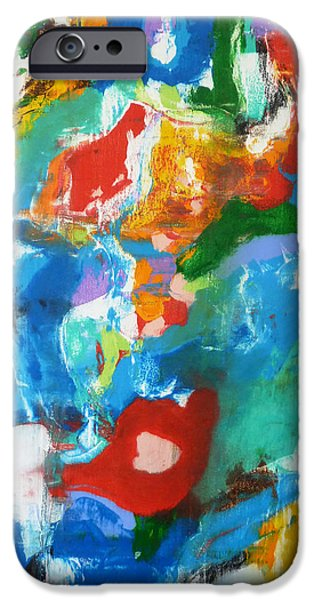 Recently Sold -  - Abstract Expressionist iPhone Cases - Kiss Me iPhone Case by Derek Kaplan
