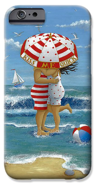 Quick iPhone Cases - Kiss Me Quick iPhone Case by Peter Adderley