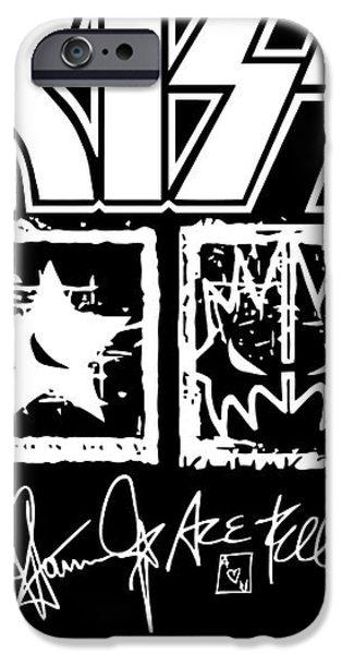 KISS No.04 iPhone Case by Caio Caldas