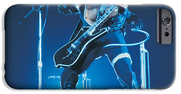 Glam Rock iPhone Cases - KISS - Paul Stanley 1977 iPhone Case by Epic Rights