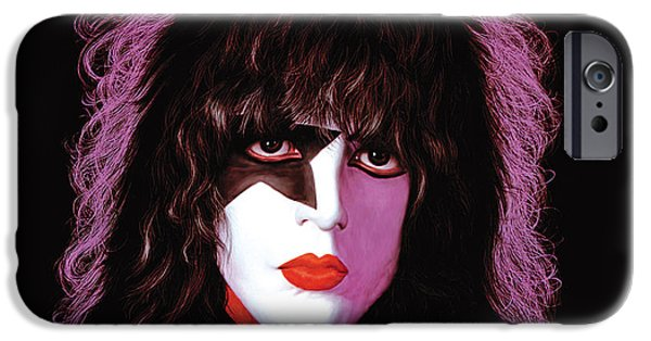 Glam Rock iPhone Cases - KISS - Paul Stanley iPhone Case by Epic Rights