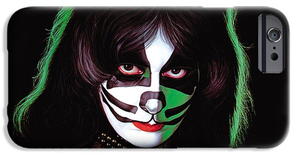 Glam Rock iPhone Cases - KISS - Peter Criss iPhone Case by Epic Rights