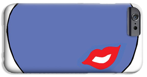 Lips iPhone Cases - Kiss the apple 2 iPhone Case by Marie-F Turner