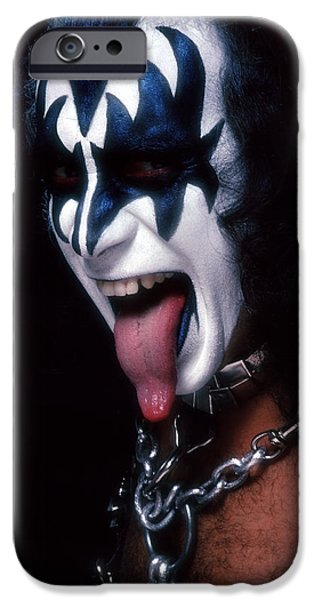 Heavy iPhone Cases - KISS - The Demon iPhone Case by Epic Rights