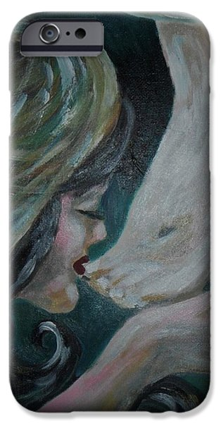 Torn iPhone Cases - Kiss With Tears iPhone Case by Esther Rowden