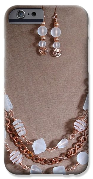 Evening Jewelry iPhone Cases - Kissed by the Sea iPhone Case by Jan Brieger-Scranton