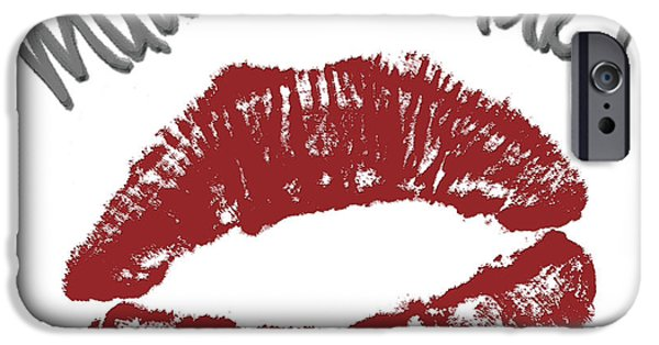 Lips iPhone Cases - Kisses iPhone Case by Gina Dsgn