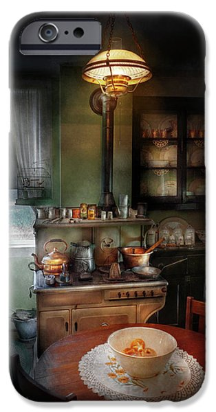 Tea Party iPhone Cases - Kitchen - 1908 kitchen iPhone Case by Mike Savad