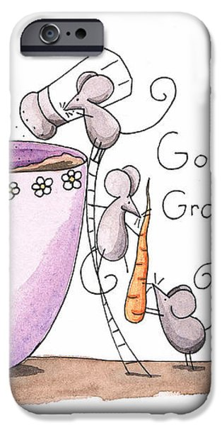 Kitchen Art Cooking Mice iPhone Case by Christy Beckwith