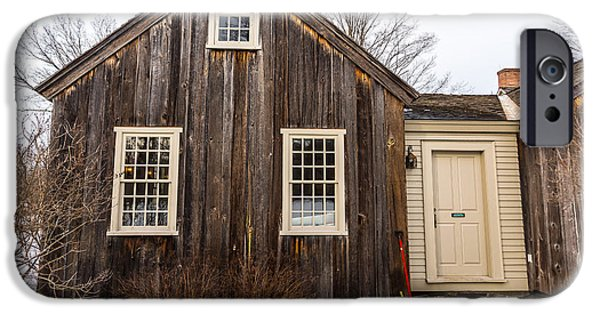 Concord. Winter iPhone Cases - Kitchen at the Old Manse in Winter iPhone Case by Allan Morrison