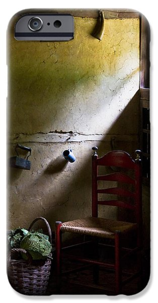 Basket iPhone Cases - Kitchen Corner iPhone Case by Dave Bowman