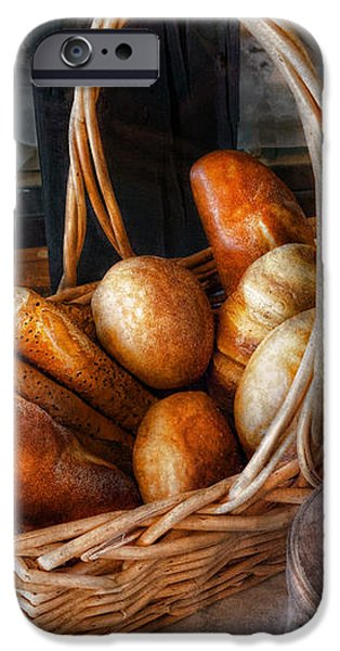 Kitchen - Food - Bread - Fresh bread  iPhone Case by Mike Savad