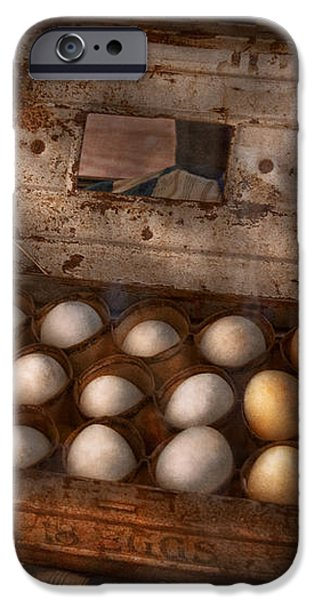 Kitchen - Food - Eggs - 18 eggs  iPhone Case by Mike Savad