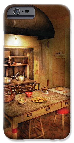 Kitchen - Granny's Stove iPhone Case by Mike Savad