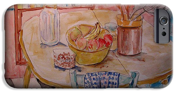 """indoor"" Still Life Paintings iPhone Cases - Kitchen in Nashville iPhone Case by Lucille Femine"