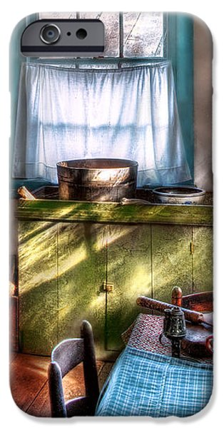 Kitchen - Old fashioned kitchen iPhone Case by Mike Savad