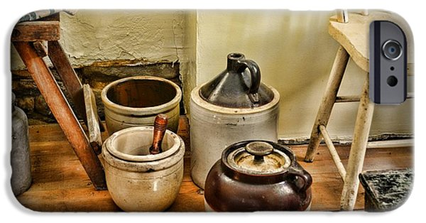 Crocks iPhone Cases - Kitchen Old Stoneware iPhone Case by Paul Ward