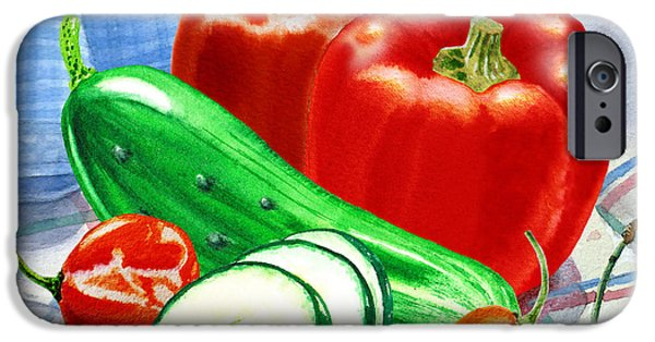 Hot Peppers iPhone Cases - Kitchen Still LIfe Sweet And Spicy  iPhone Case by Irina Sztukowski