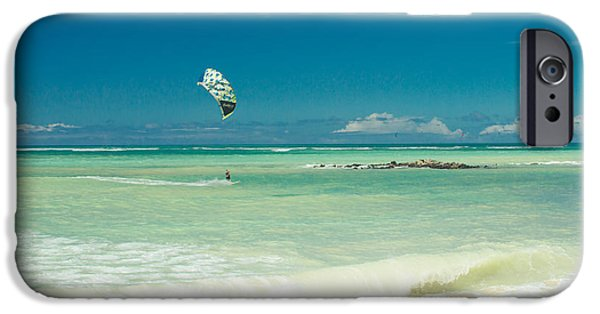 Kite Surfing iPhone Cases - Kite Beach Kanaha Maui Hawaii iPhone Case by Sharon Mau