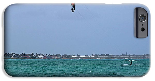 Kite Boarding iPhone Cases - Kite Boarder iPhone Case by Deanna Proffitt
