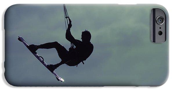 Kite Boarding iPhone Cases - Kite boarding iPhone Case by Jay Droggitis