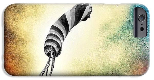 Kite iPhone Cases - Kite in the Wind iPhone Case by Marianna Mills